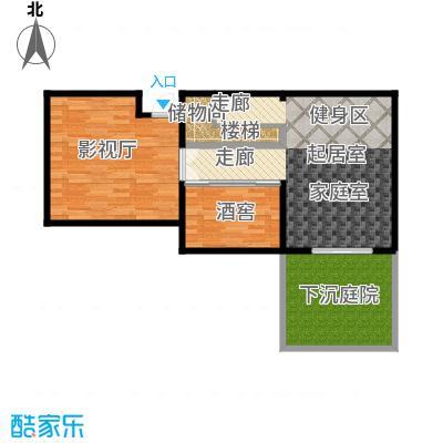 仁和都市花园66.00㎡花园洋房A地下室户型
