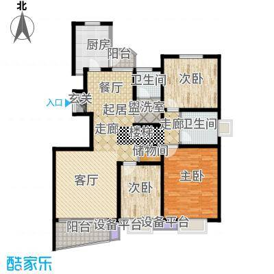 大上海国际花园140.00㎡上海三期(上海面积14000m户型