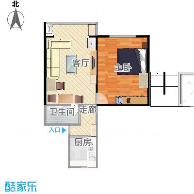 农光里板楼两居室户型