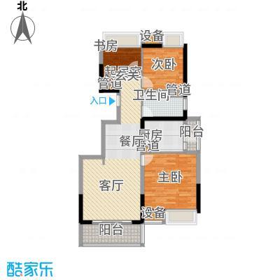 江桥万达广场89.17㎡14#01面积8917m户型
