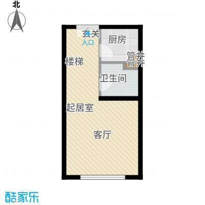 半岛托斯卡纳40.00㎡酒店式公寓上层户型