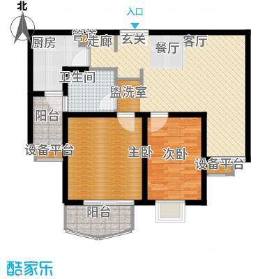 江南名庐84.00㎡02户型