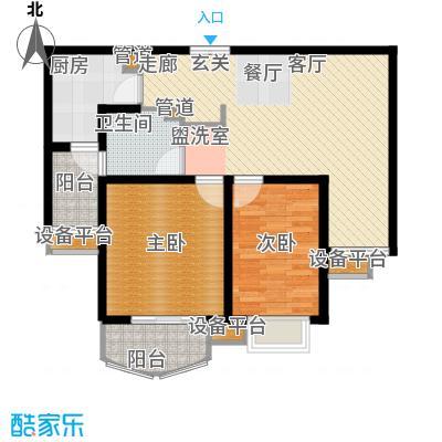 江南名庐84.00㎡户型