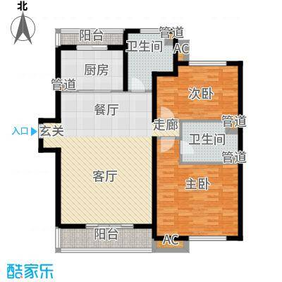 恒盛鼎城华公馆119.69㎡F3户型