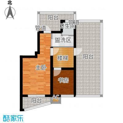 恒盛鼎城华公馆69.59㎡户型