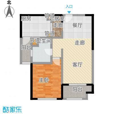 远雄徐汇园69.49㎡E03户型