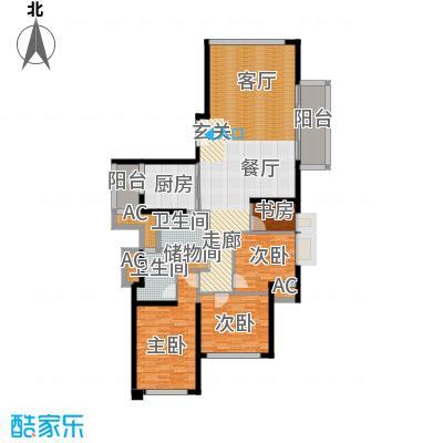 静安豪景苑158.97㎡5号楼22层-38层户型