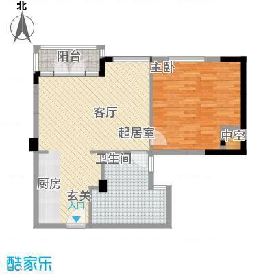 九龙山星海湾73.26㎡风尚a-a1户型