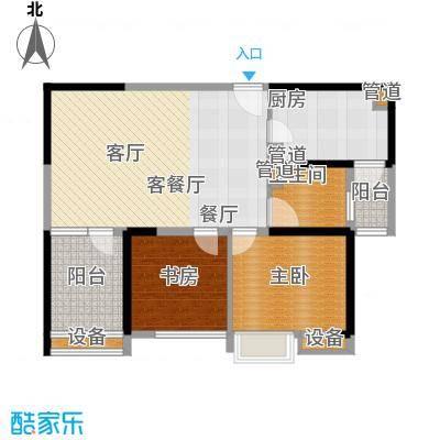 东渡青筑88.38㎡E户型