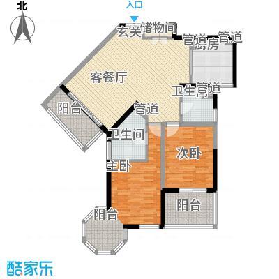 尚海湾豪庭125.00㎡4号楼B2户型