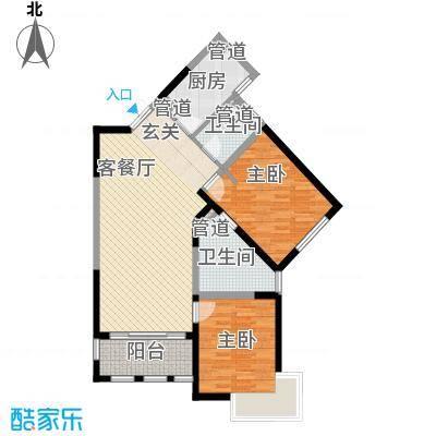 尚海湾豪庭115.68㎡二期6号楼B-2户型