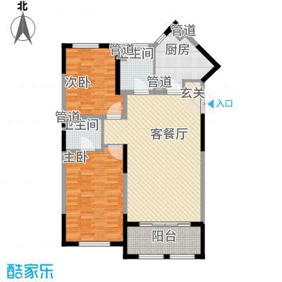 尚海湾豪庭128.01㎡二期6号楼B-1户型