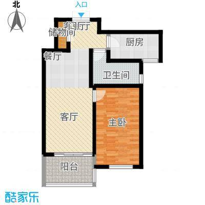尚海湾豪庭68.49㎡4号楼E1户型