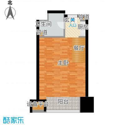 亚太广场二期50.00㎡住宅布置图户型
