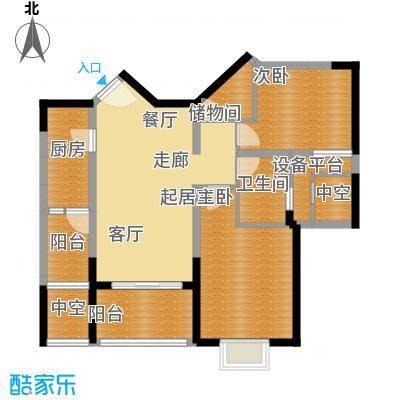 鑫苑国际城市花园88.00㎡鑫苑B-2户型