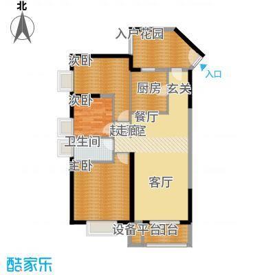 鑫苑国际城市花园111.00㎡鑫苑B-3户型