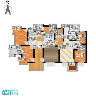 绿中海雅庭140.00㎡2楼平面配置图户型