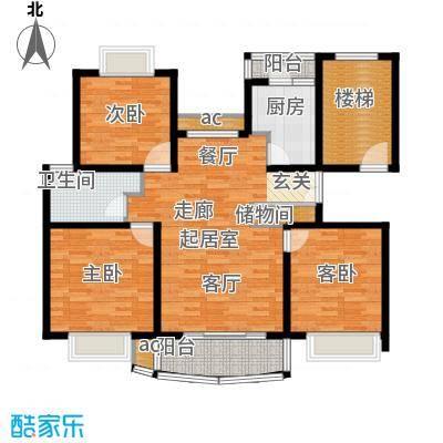 新梅共和城115.89㎡上海二期面积11589m户型