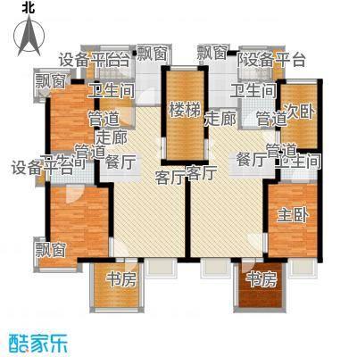 绿中海雅庭90.00㎡6号楼3-5楼平面配置图户型