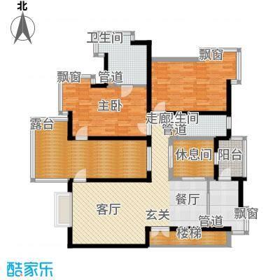 绿中海雅庭140.00㎡2楼户型