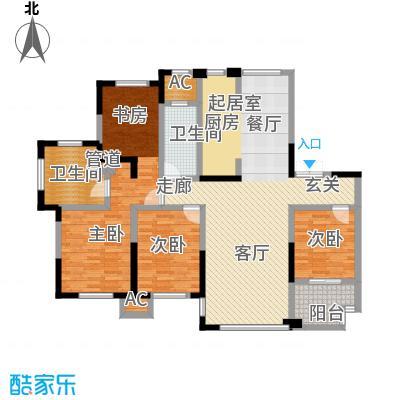 宝华铂翠豪庭129.00㎡A3129m2户型