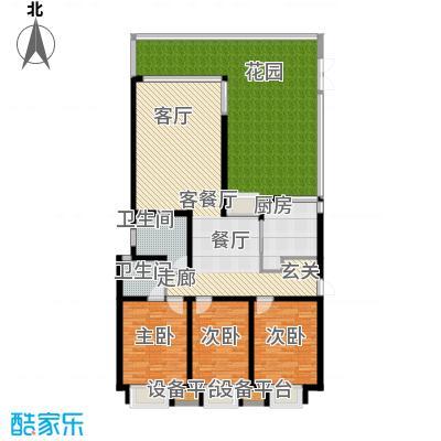 临港海滨国际花园159.28㎡E-e2-2-C户型