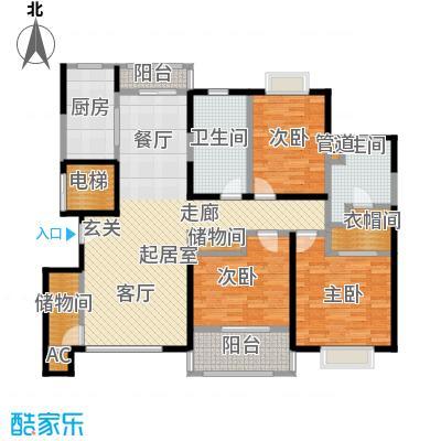 嘉乐东润舒庭139.68㎡2#户型