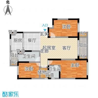兴东佳苑92.40㎡户型