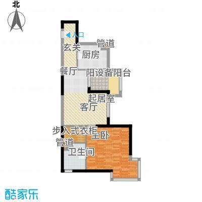 大华清水湾花园三期华府樟园81.00㎡J户型