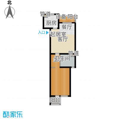大华清水湾花园三期华府樟园89.00㎡L户型