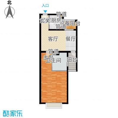 大华清水湾花园三期华府樟园88.00㎡C户型