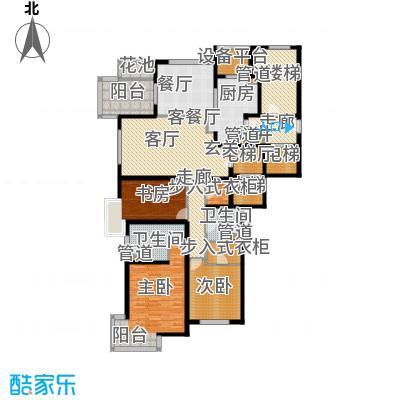 大华清水湾花园三期华府樟园195.00㎡E1户型