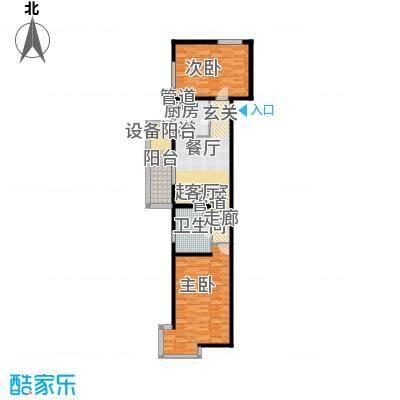 大华清水湾花园三期华府樟园106.00㎡B户型