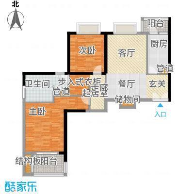 黄浦逸城105.00㎡A户型