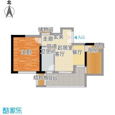 黄浦逸城64.00㎡C户型