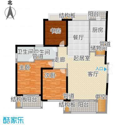 黄浦逸城187.00㎡E户型