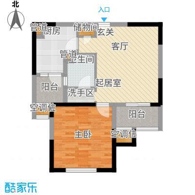 绿洲香格丽花园64.05㎡平面图户型