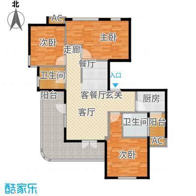 金铭文博水景111.54㎡3-6号楼D1户型