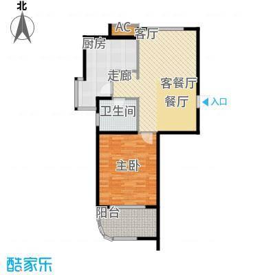 金铭文博水景70.72㎡3-6号楼D2户型