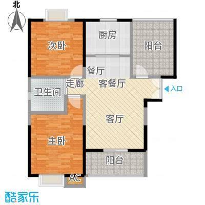 新弘国际城88.49㎡Aa型标准层平面图户型