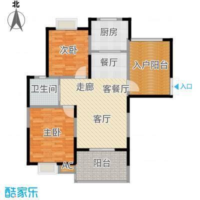 新弘国际城89.44㎡Ae型标准层平面图户型
