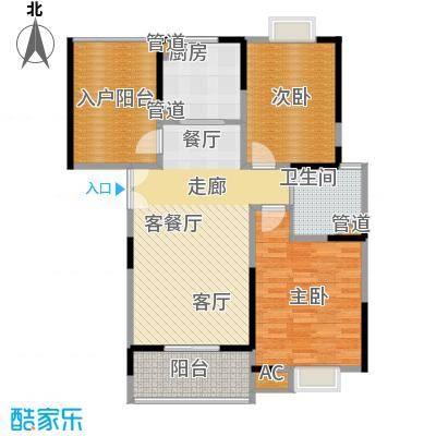 新弘国际城89.51㎡Ap型标准层平面图户型