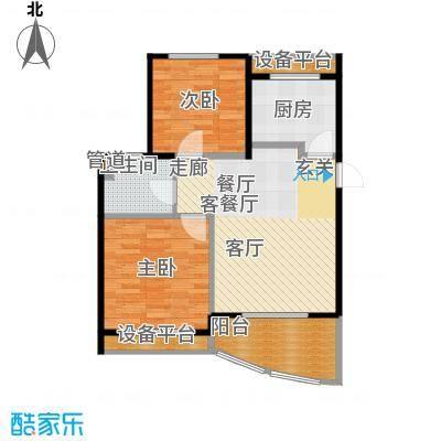 金铭文博水景80.14㎡3-6号楼C2'户型
