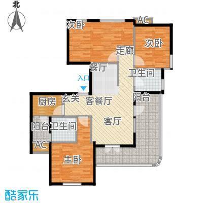 金铭文博水景111.62㎡3-6号楼D1'户型