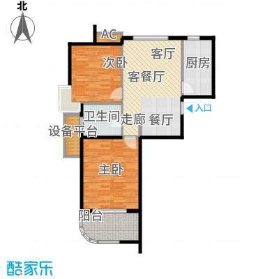 金铭文博水景77.17㎡3-6号楼D户型