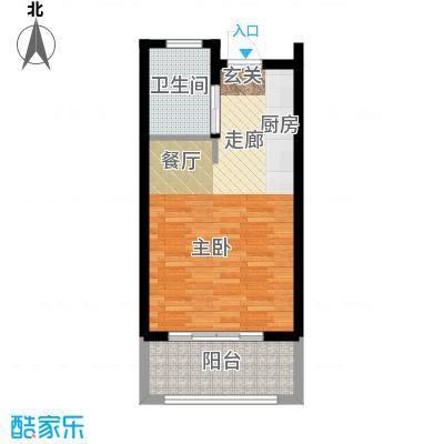 嵊泗天悦湾滨海度假村46.00㎡-A户型