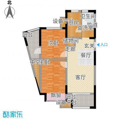 嘉实上城名都96.00㎡南区2幢180、181号单元B22室户型