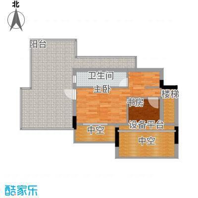 金地松江艺境70.00㎡洋房阁楼层平面图户型