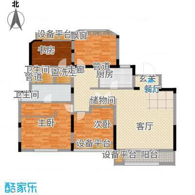金地松江艺境144.00㎡洋房A1一层平面图户型