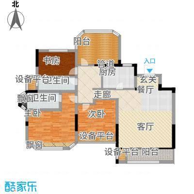 金地松江艺境120.00㎡洋房A3三层平面图户型
